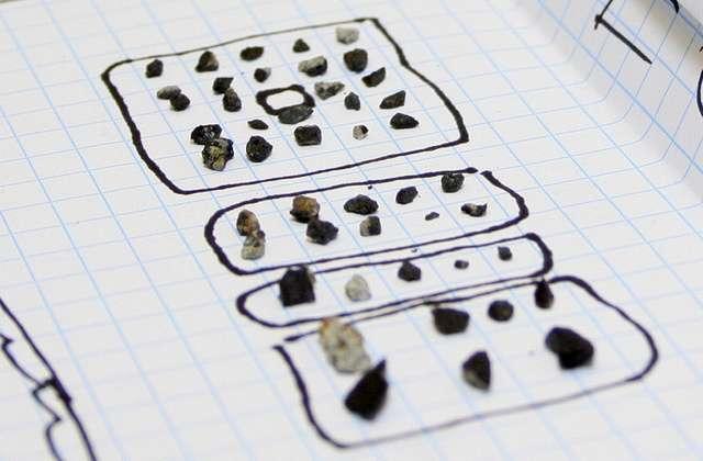 Fragmentos de meteortito