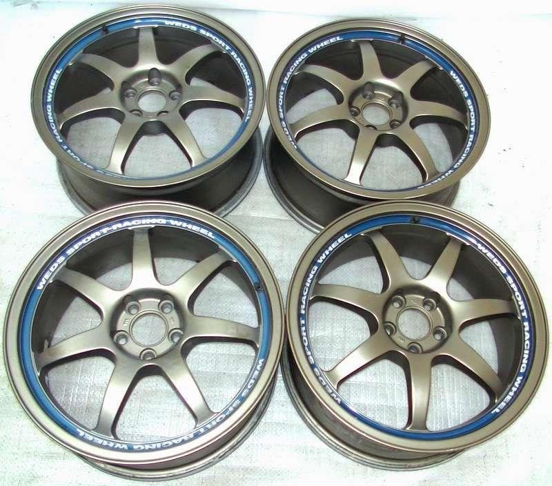 WEDS Sport racing wheels SA-90 5x114 17 7.5J GDB Impreza S13 RX7