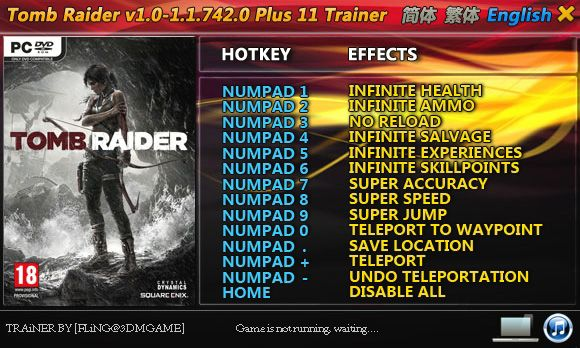 Tomb Raider 1.0.716.5-1.1.742.0 +11 Trainer [FliNG]