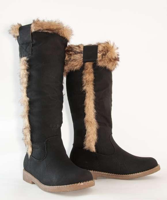 damen schuhe winter stiefel boots warm gef ttert snow fur knee high 198 37 38 39 ebay. Black Bedroom Furniture Sets. Home Design Ideas